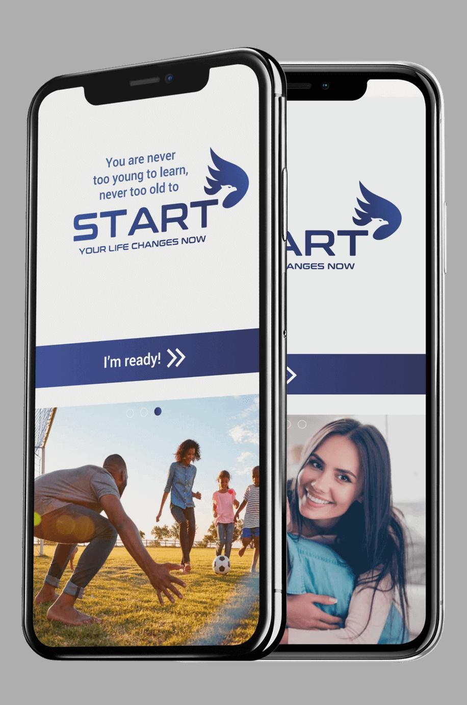 START Wellness App - Landing Screenshot