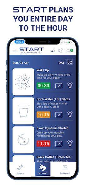 START Wellness App Screenshot 1